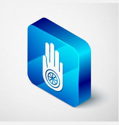 isometric symbol jainism or jain dharma icon vector image
