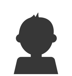 Kid avatar boy icon vector image