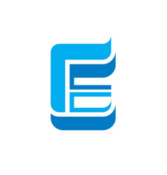 Letter e with wings - logo concept vector