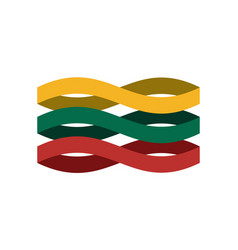 lithuania flag ribbon isolated lithuanian symbol vector image