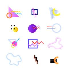 memphis sets compositions vector image