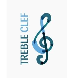 modern logo in shape a treble clef vector image