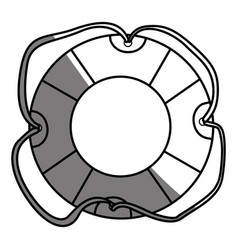 Monochrome silhouette of flotation hoop with vector