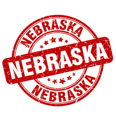 Nebraska stamp vector