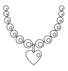 Necklace icon outline style vector