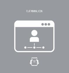 Network user - flat minimal icon vector