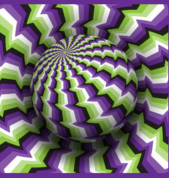 Optical illusion purple green white vector