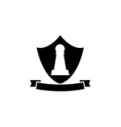 pawn emblem icon element of chess for mobile vector image