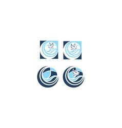 pigeon cross religious logo icon vector image