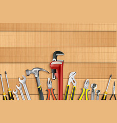 Plumber tools icon set vector