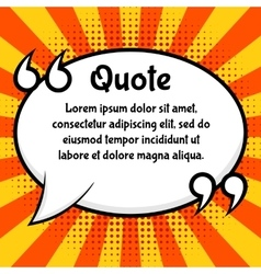 Quote bubble template vector