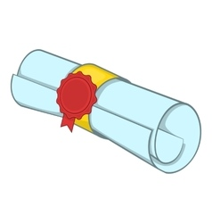 Roll of paper icon cartoon style vector