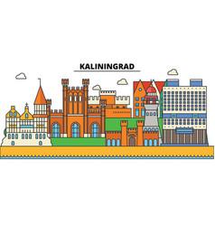Russia kaliningrad prussia city skyline vector