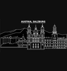 Salzburg silhouette skyline austria - salzburg vector