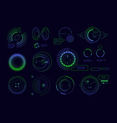 satellite hud ui circle radar futuristic digital vector image