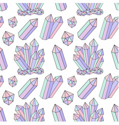 Seamless pattern with delicate crystals vector