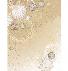 Seashells on sand vector