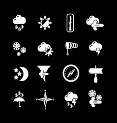 Set icons of weather vector image