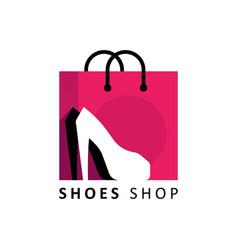 shoe shop logo concept vector image