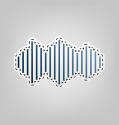 sound waves icon blue icon with outline vector image vector image