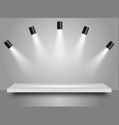 spotlights realistic vector image