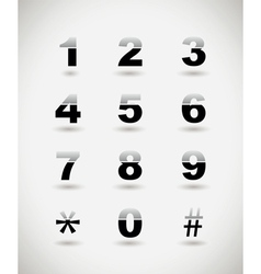 telephone numbers vector image vector image