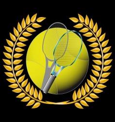 tennis and golden wreath vector image