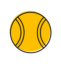 tennis ball isolated icon vector image