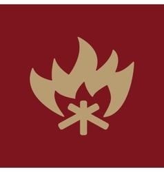 The fire icon Bonfire symbol Flat vector