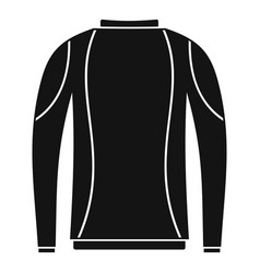 Thermo clothes icon simple style vector