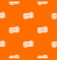 ticket pattern seamless vector image