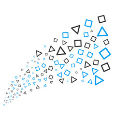 Triangle and square frames source stream vector
