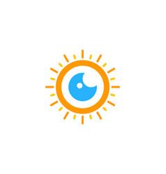 vision sun logo icon design vector image