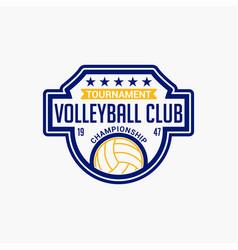 Volleyball club badge logo-7 vector