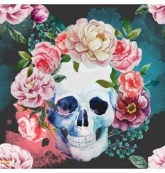 Watercolor skull vector