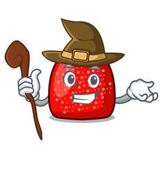witch gumdrop mascot cartoon style vector image