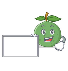 With board guava character cartoon style vector
