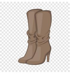 Womens boots high heel icon cartoon style vector