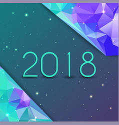 2018 new year creative design background or vector image
