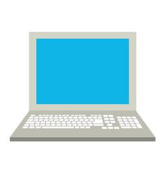 electronic laptop on vector image vector image