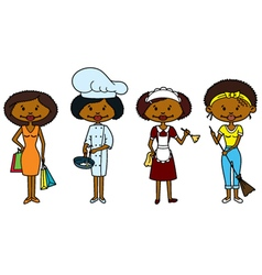 African-American Housewifes vector image vector image