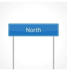Blue north traffic sign vector image vector image