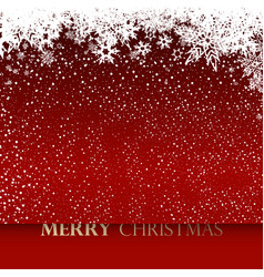 christmas background with white snowflakes and vector image vector image
