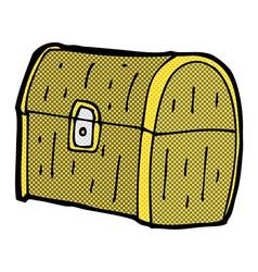 comic cartoon treasure chest vector image
