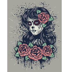 Day of Dead Girl 2 vector image vector image