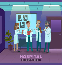 doctors in hospital vector image vector image