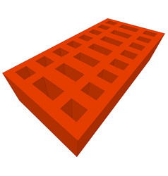orange brick on white vector image