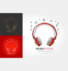 stylized image of headphone vector image