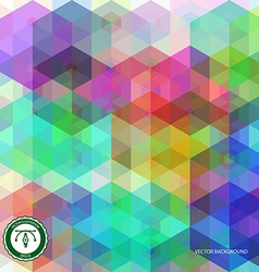 Abstract hexagon colorful background vector