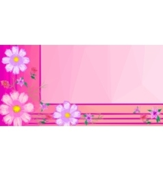 Background with Low Poly Floral Pattern vector image vector image